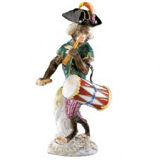 Meissen Monkey Band - Figurine of a Drummer